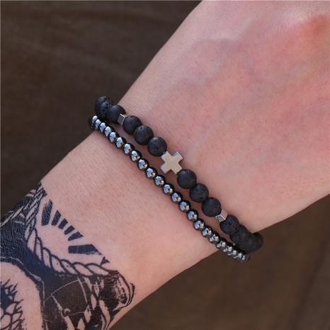 ensemble de bracelet en perles de pierre volcanique de mode NHZU315281's discount tags