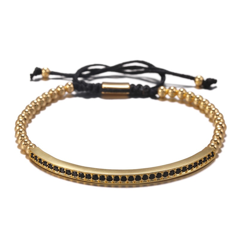 bracelet fantaisie en zirconium incrust de cuivre NHZU315282