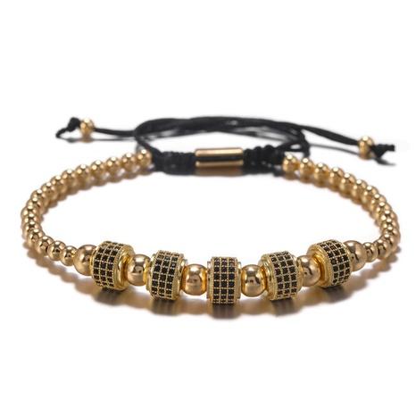 bracelet en perles de zirconium incrusté de cuivre de style punk NHZU315283's discount tags