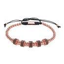 bracelet en perles de zirconium incrust de cuivre de style punk NHZU315283