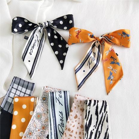 bufanda de cinta de seda simple de moda NHMN315292's discount tags