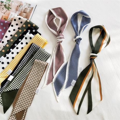 bufanda de seda pequeña, larga y estrecha de moda NHMN315303's discount tags