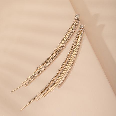 simple long tassel earrings NHAI315344's discount tags