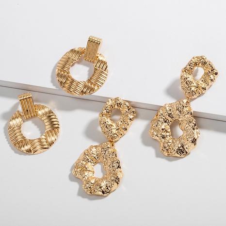 fashion retro exaggerated fold earrings  NHAI315348's discount tags