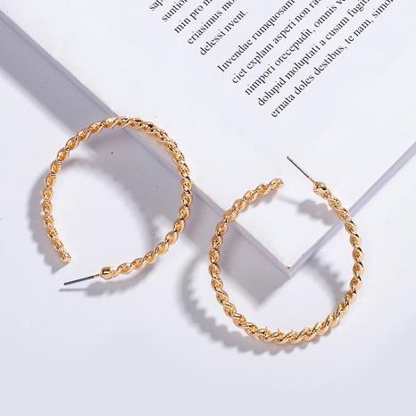 Boucles d'oreilles exagérées cercle géométrique Corée NHAI315352's discount tags