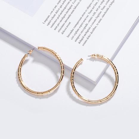 nouvelles boucles d'oreilles cercle exagérées à la mode NHAI315357's discount tags