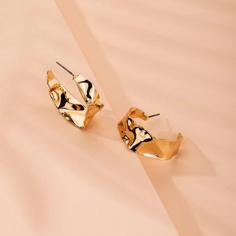 Irregular metal C-shaped earrings  NHAI315362's discount tags
