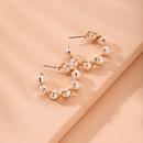 Boucles d39oreilles en perles  la mode corenne NHAI315364