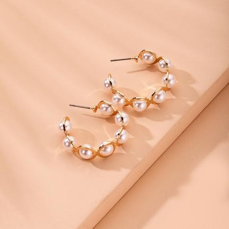 Boucles d'oreilles en perles à la mode coréenne NHAI315364's discount tags