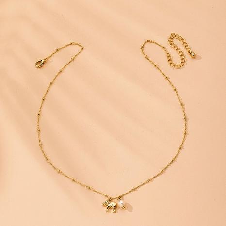 collier pendentif diamant éléphant bébé NHAI315369's discount tags