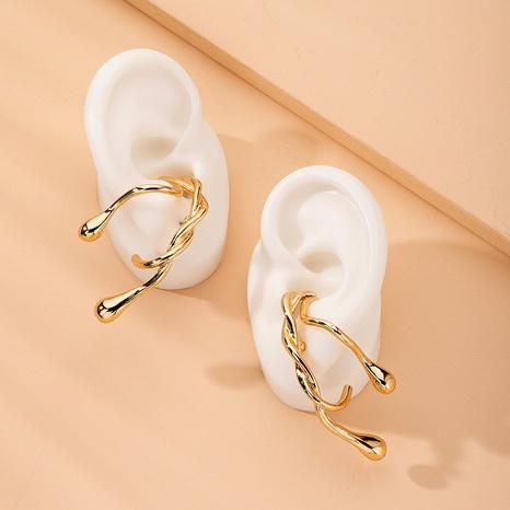 Boucles d'oreilles rétro coréennes en forme de C NHAI315371's discount tags