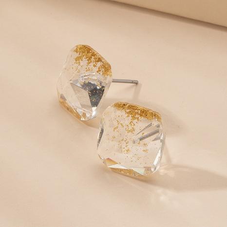 Korean retro resin square earrings NHAI315376's discount tags