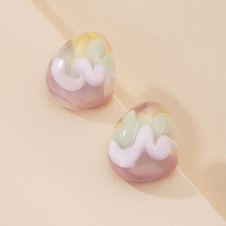 boucles d'oreilles coeur en résine en gros NHAI315377's discount tags