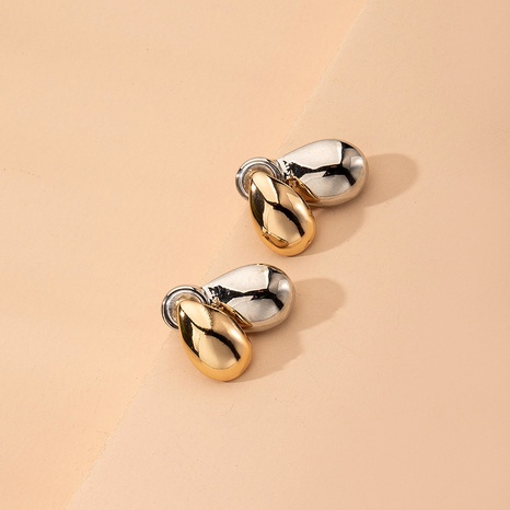 hip-hop water drop metal earrings  NHAI315372's discount tags
