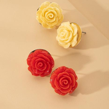 boucles d'oreilles roses rouges rétro NHAI315379's discount tags