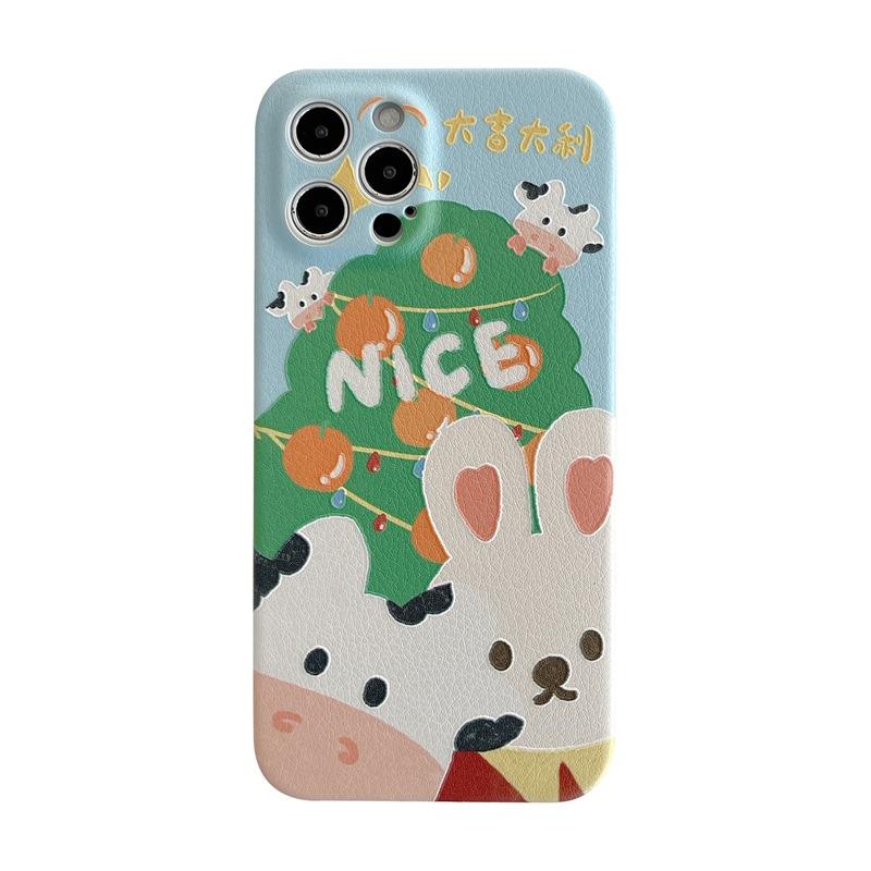cute rabbit mobile phone case for iPhone11pro Max Apple 8plus X NHFI314492