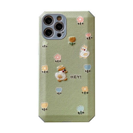 Korean embroidery cute cartoon flower duck phone case for iPhone8plus XR NHFI314483's discount tags