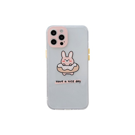 Side cute cartoon transparent mobile phone case for Apple 12mini 11pro X 8PLUS se2 xsmax NHFI314465's discount tags