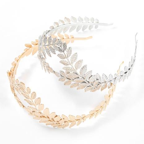 Korean simple alloy leaf headband  NHJE318341's discount tags
