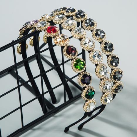 Korean cute alloy diamond headband NHLN318351's discount tags