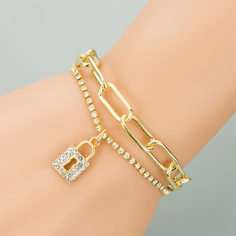 Korean fashion new love lock chain bracelet  NHLN318359's discount tags
