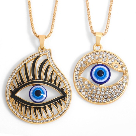 fashion simple Large Eye Necklace NHAS318366's discount tags