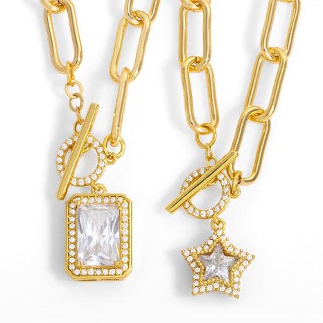 simple collar de amor con estrella de cinco puntas NHAS318372's discount tags
