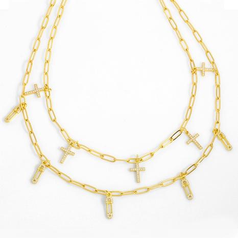 nuevo collar de clip de papel de cobre de moda NHAS318374's discount tags