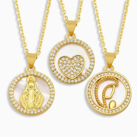 fashion diamond pendant Necklace NHAS318376's discount tags
