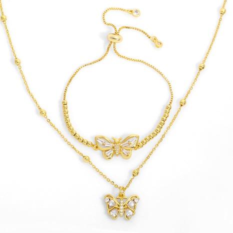 Collar de mariposa de moda de Corea NHAS318377's discount tags