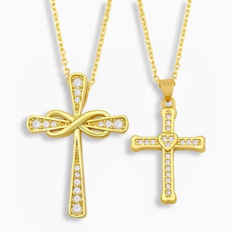 collar de cruz en forma de corazón de moda NHAS318382's discount tags