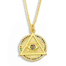 simple palm eye pendant necklace NHAS318391