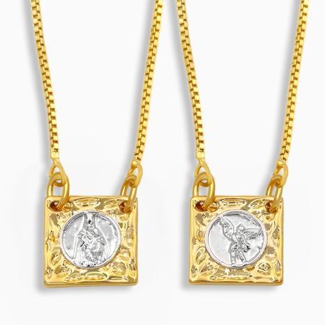 nuevo collar de ángel cuadrado simple NHAS318392's discount tags