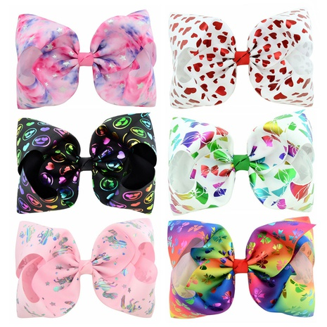 new fashion starry sky love bow hairpin set NHMO318439's discount tags