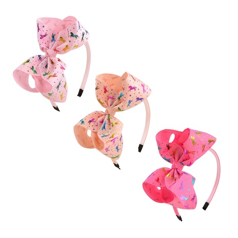 Korean fashion polyester children's bow headband set NHMO318463's discount tags