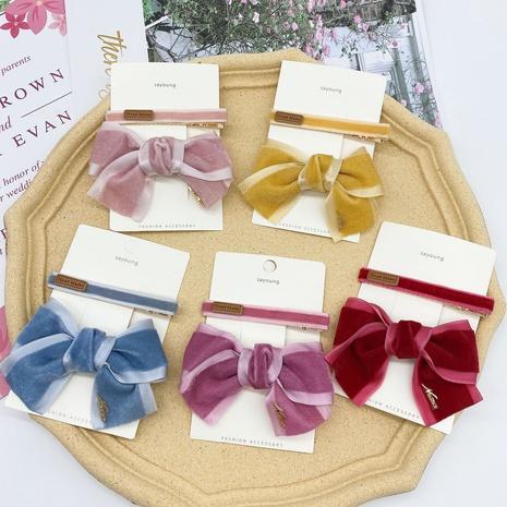 nuevo conjunto de pinzas de pelo lindo arco de terciopelo de moda NHCU318491's discount tags