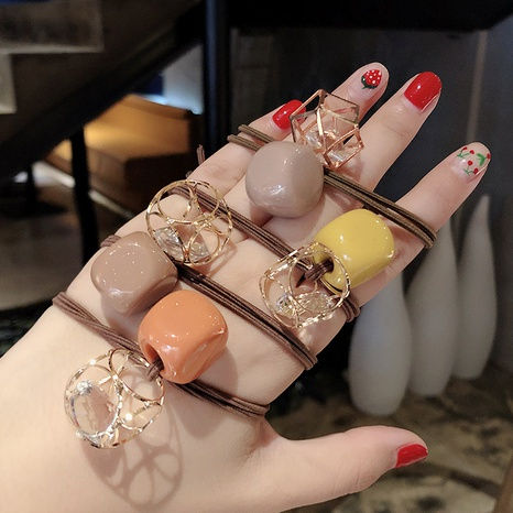 new fashion hollow rhinestone hair ring set  NHCU318517's discount tags