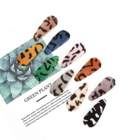 new leopard wool hairpin set NHCU318521's discount tags