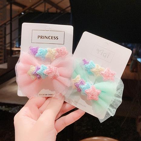 children's star big bow cute hairpin set NHCU318523's discount tags
