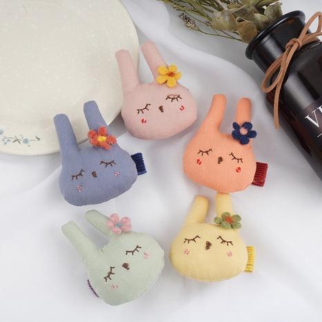 Koreanischer süßer Hasenhaarringsatz NHCU318525's discount tags