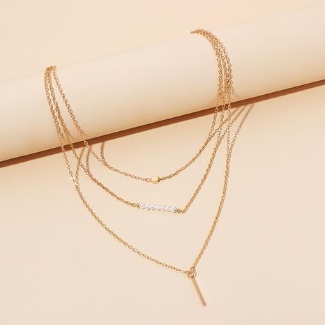 collier de perles multicouches à la mode NHRN318528's discount tags