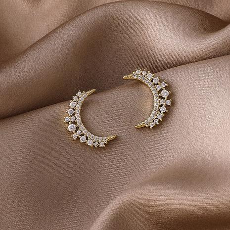 New fashion Moon Diamond copper Earrings NHMS318538's discount tags