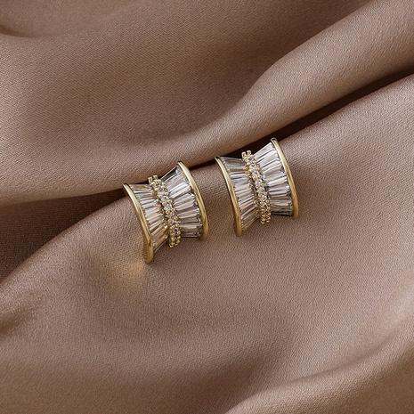 simple geometric diamond arc symmetrical earrings NHMS318543's discount tags