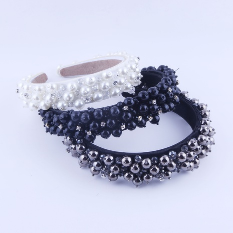 Diadema con tachuelas de perlas barrocas de nueva moda NHWJ318562's discount tags