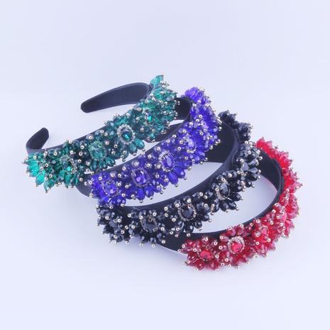 Banda para el cabello con piedras preciosas barrocas de nueva moda NHWJ318563's discount tags