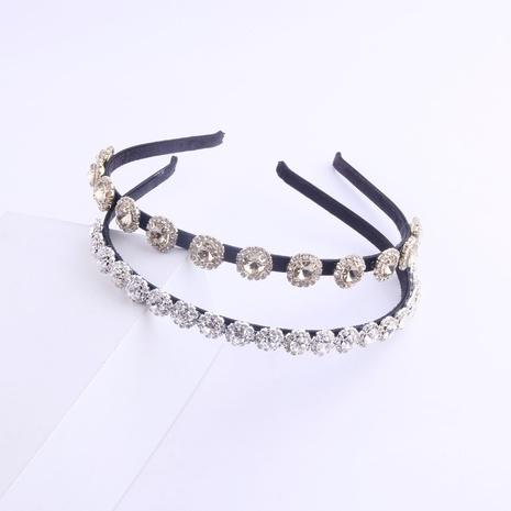 Doppelschichtiges Stirnband mit Volldiamantkristallblume aus koreanischer Mode NHWJ318566's discount tags