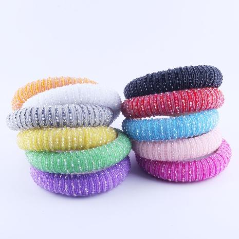 New Fashion koreanischen Schwamm Kristall Reis Perlen Haarband NHWJ318567's discount tags