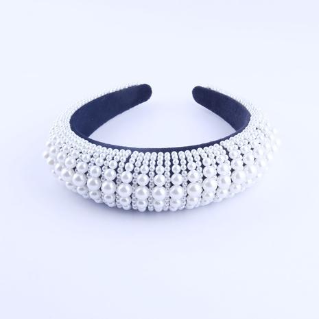 New fashion pearl sponge exaggerated headband NHWJ318568's discount tags