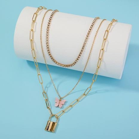 nuevo collar de múltiples capas de mariposa de bloqueo de moda NHAN321683's discount tags