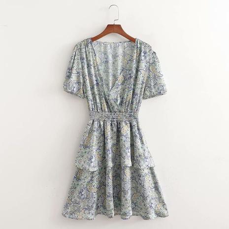 robe à taille élastique double épaisseur NHAM321739's discount tags